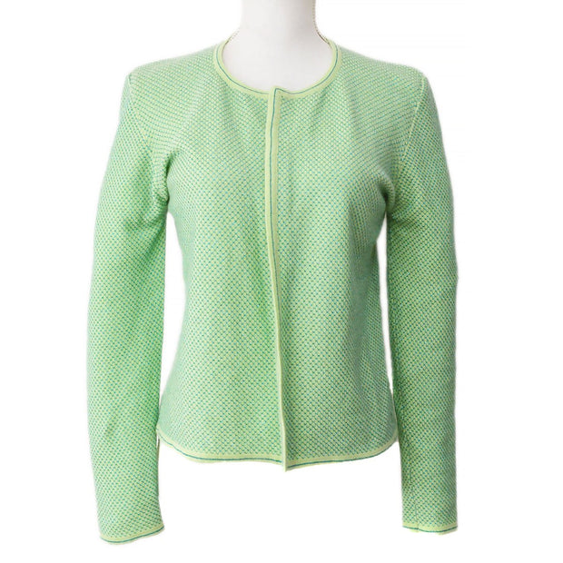 CHANEL 01C #42 Cardigan Light Green
