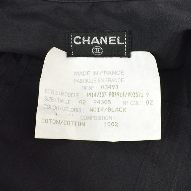 CHANEL #42 Long Sleeve Tops Shirt Black