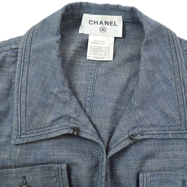 CHANEL 03P #38 Jacket Blue