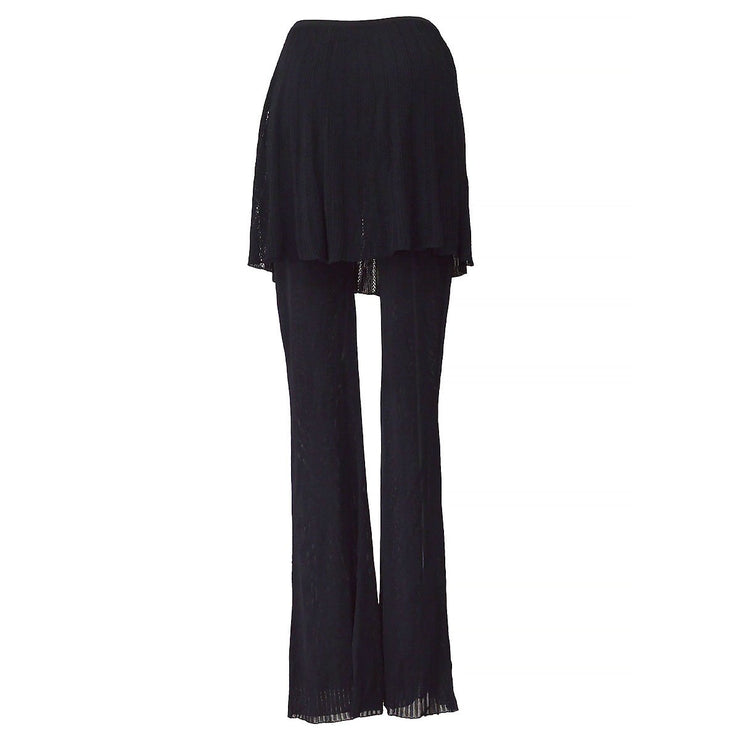 CHANEL 02P #38 Skirt Pants Black