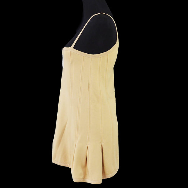 CHANEL 04P #38 Sports Line Camisole One Piece Dress Beige