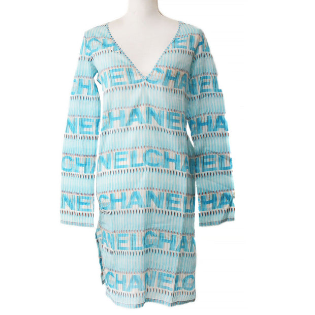 CHANEL 05P #36 One Piece Dress Light Blue