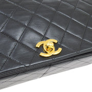 CHANEL Full Flap Chain Shoulder Bag Black