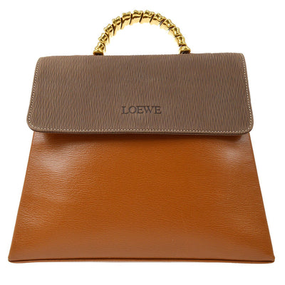 LOEWE VELAZQUEZ 2way Hand Bag Brown