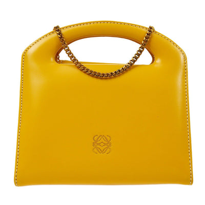 LOEWE Logos 2way Hand Bag Chain Shoulder Yellow