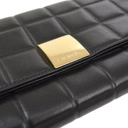 CHANEL Choco Bar Long Wallet Black
