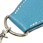 HERMES Shoulder Strap For Evelyn Light Blue Canvas Leather