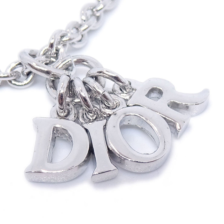 Christian Dior Charm Necklace Silver Chain