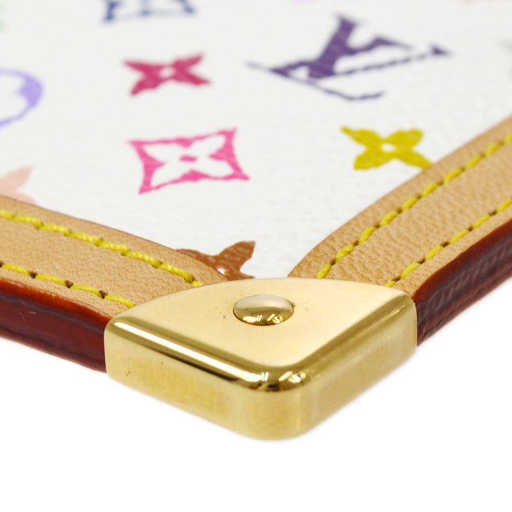 LOUIS VUITTON POCHETTE CLES COIN CASE MULTICOLOR WHITE M92655