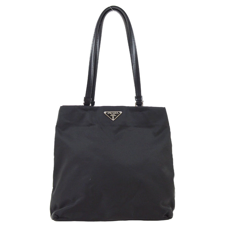 PRADA Shoulder Tote Bag #50 TESSUTO BASIC NERO