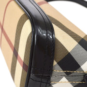 BURBERRY ESTABLISHED 1856 Nova Check Hand Bag Brown