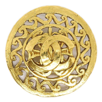 CHANEL Medallion Brooch Pin Corsage Gold 95A