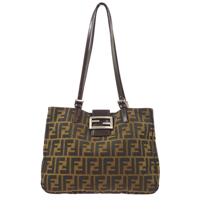 FENDI Zucca Pattern Shoulder Bag Brown