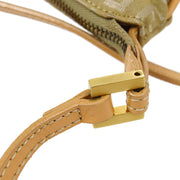FENDI Zucchino Shoulder Bag Beige