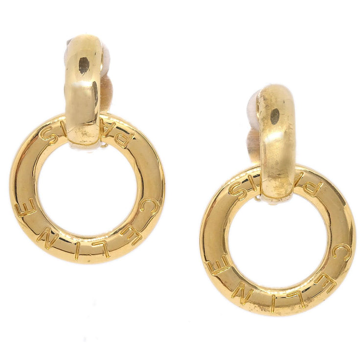CELINE Hoop Shaking Earrings Gold