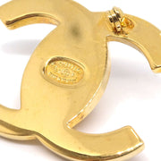 CHANEL Turnlock Brooch Pin Corsage Gold 97P