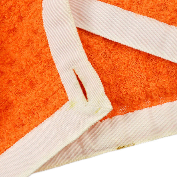 CHANEL 27 #42 Collarles Jacket Orange