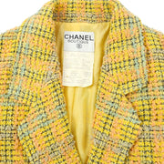 CHANEL 94A #36 Tweed Jacket Yellow