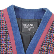 CHANEL Setup Suits Jacket Skirt Tweed Purple 26 #42