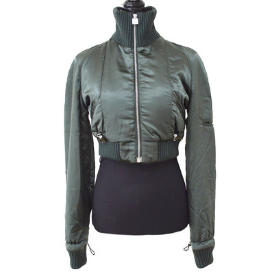 CHANEL Sports Line Blouson Jacket Green 03A #36