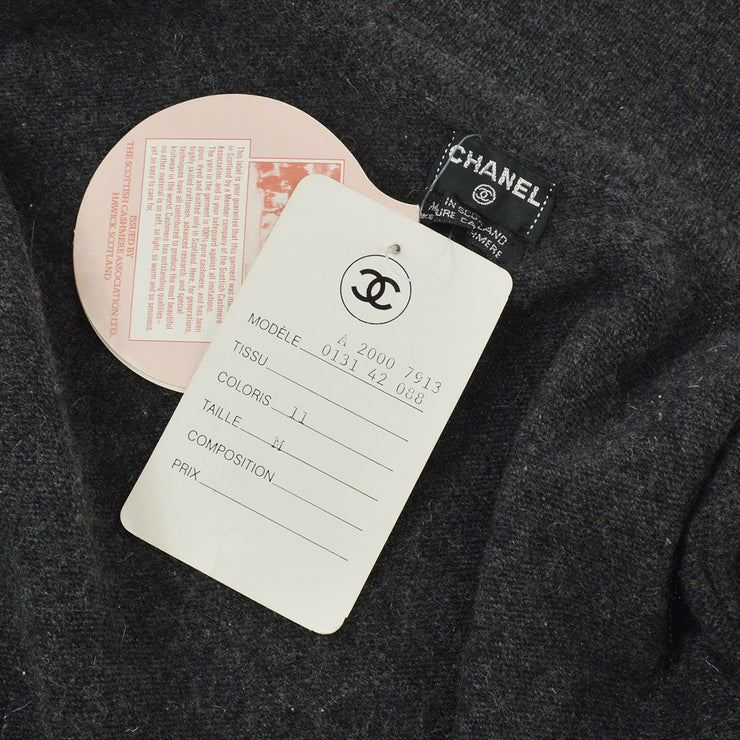 CHANEL Long Sleeve Tops Cardigan Gray #M