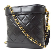 CHANEL Fringe Shoulder Bag Black