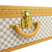 LOUIS VUITTON ALZER 80 TRUNK HARD CASE BAG DAMIER AZUR