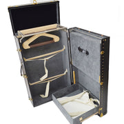 LOUIS VUITTON TRAVEL TRUNK HARD CLOTHES STORAGE CASE BAG EPI BLACK