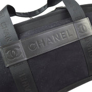 CHANEL Sport Line Boston Hand Bag Black