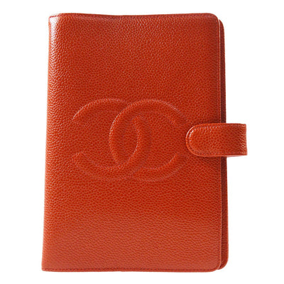 CHANEL Agenda Notebook Cover Caviar Skin Red