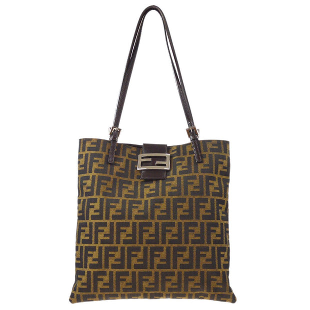 FENDI Zucca Pattern Shoulder Tote Bag Brown