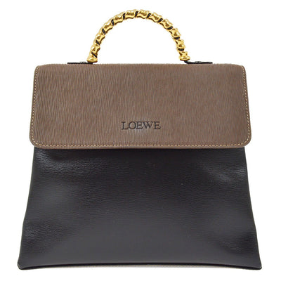 LOEWE VELAZQUEZ 2way Hand Bag Black Brown