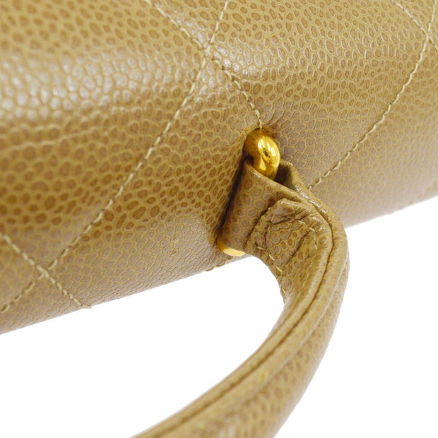 CHANEL Briefcase Business Hand Bag Caviar Beige