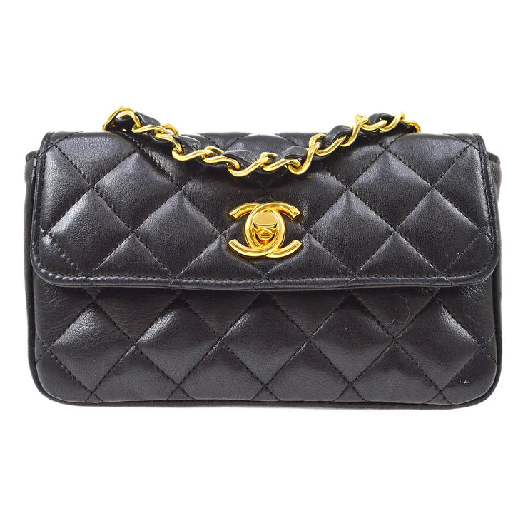 CHANEL Single Chain Mini Shoulder Bag Black