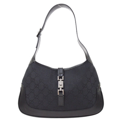 GUCCI GG Pattern Jackie Hand Bag Black