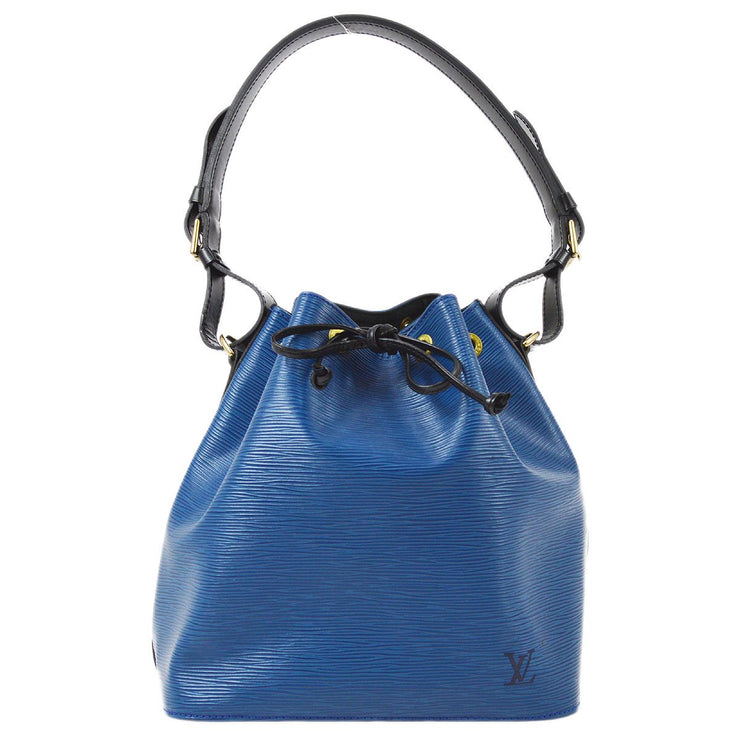 LOUIS VUITTON PETIT NOE DRAWSTRING SHOULDER BAG EPI BI-COLOR M44152