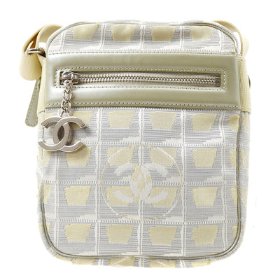 CHANEL Travel Line Shoulder Bag Silver