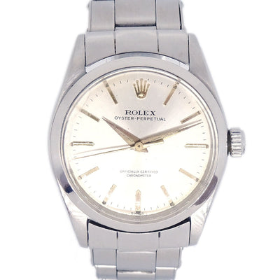 ROLEX Antique Oyster Perpetual Wristwatch Watch Silver
