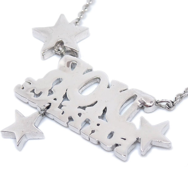 Christian Dior Star Silver Chain Pendant Necklace