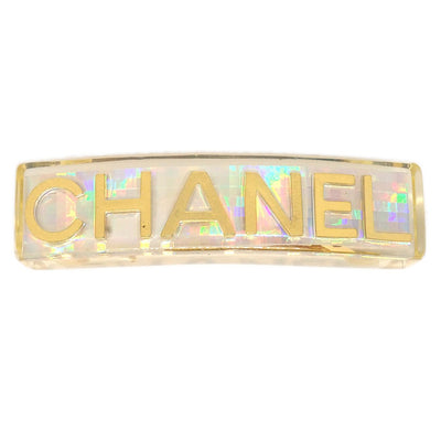 CHANEL Hair Clip Hairpin Barrette Clear 97P 62