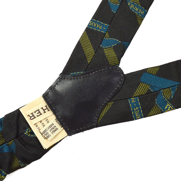 HERMES Suspenders Black