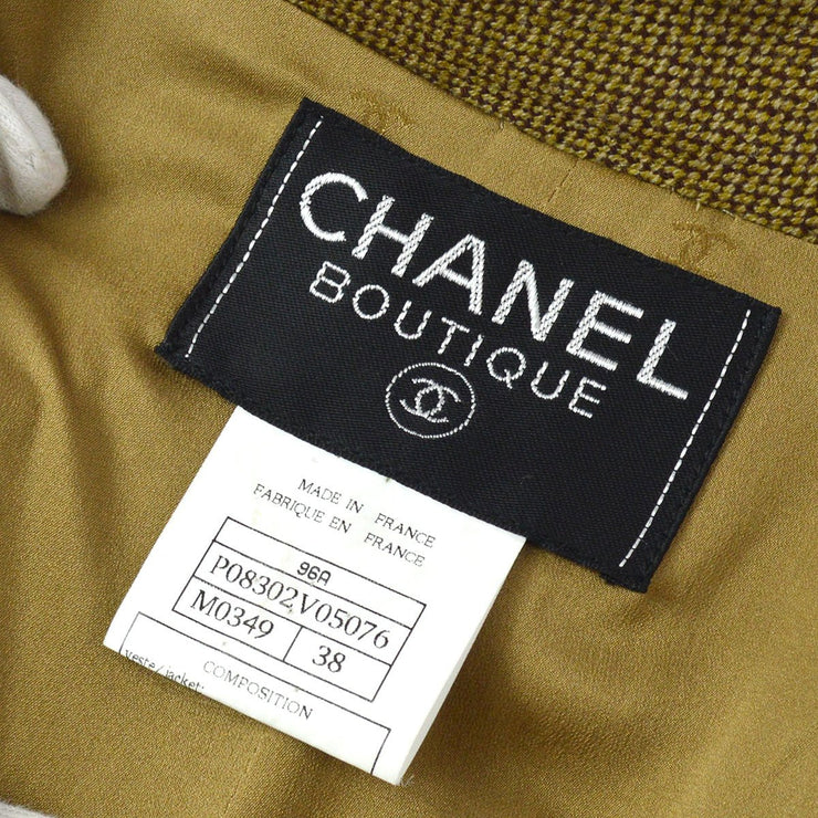 CHANEL 96A #38 Single Breasted Jacket Brown