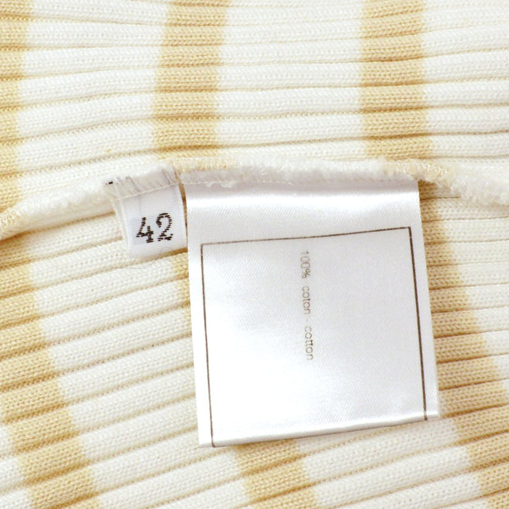 CHANEL 98P #42 Long Sleeve White Beige
