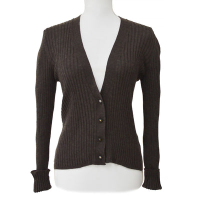CHANEL 99A #44 Cardigan Brown