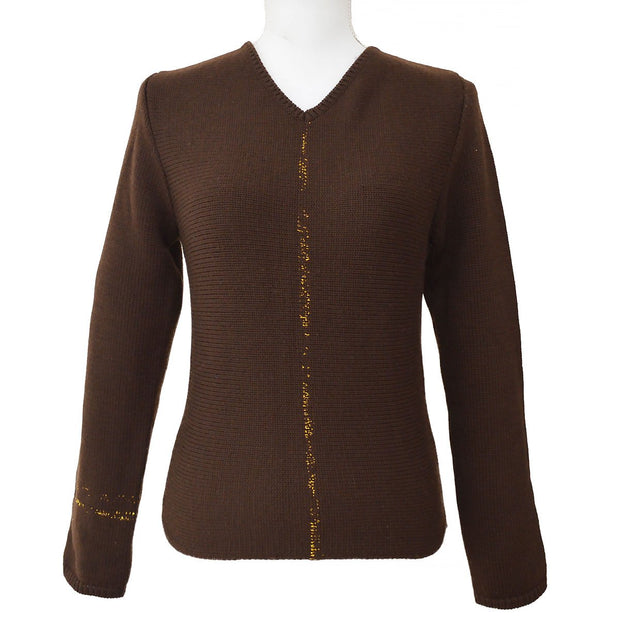 CHANEL 99A #36 Sweater Tops Brown