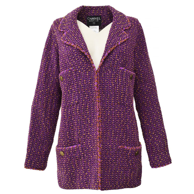 CHANEL 97A #34 Tweed Jacket Purple