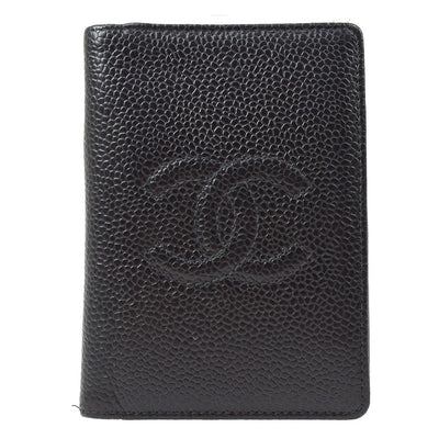 CHANEL Card Case Wallet Black Caviar