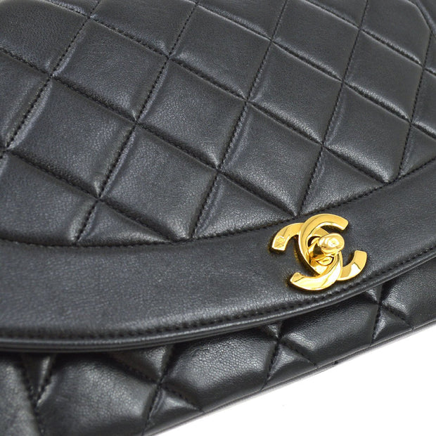 CHANEL DIANA Medium Single Chain Shoulder Bag Black