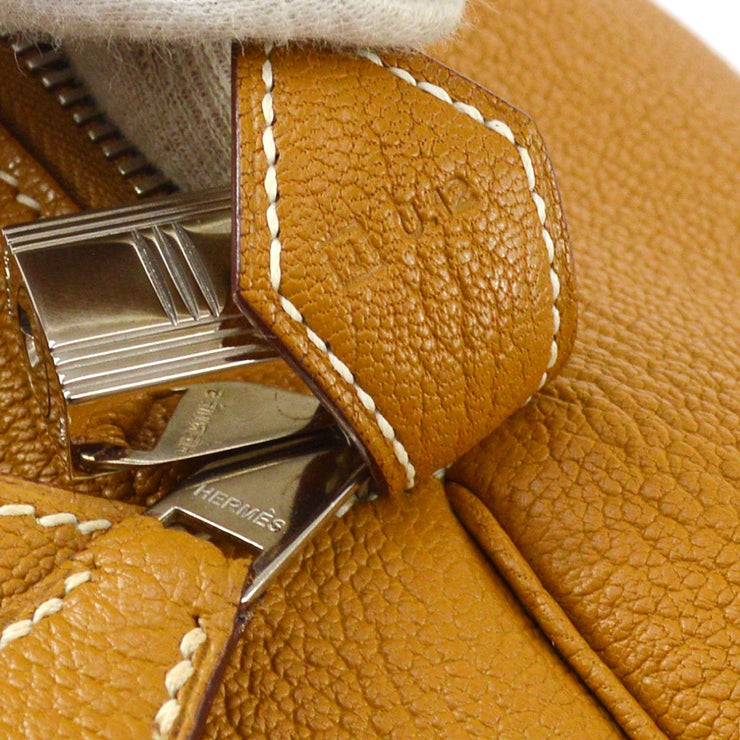 HERMES BOLIDE 1923 Hand Bag Brown Chevre Myzore
