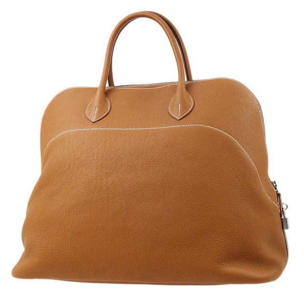HERMES BOLIDE RELAX 45 Travel Hand Bag Brown Traurillon